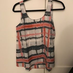 Multicolored sleeveless blouse